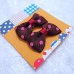 Mini Brown (Chestnut) Polka Dots Bo..